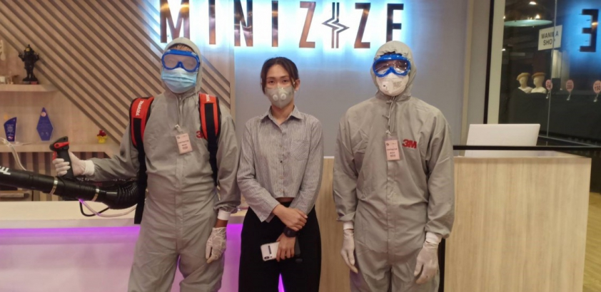 Cleaning Covid-19 @Minizize